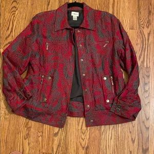 Chico's size 10/12 red jacket